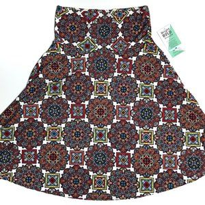 Honey and Lace Ventura A-Line Skirt Floral Mosaic